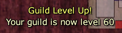 Guild Level 60: Popup Message